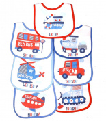 7 Day Babies Baby Bibs Boys Girls -Towelling Front - PEVA Back 100% Cotton