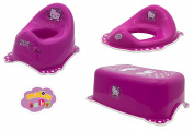 Maltex Baby Toilet Training Seat/Stool and Potty Set, Pink, Hello Kitty
