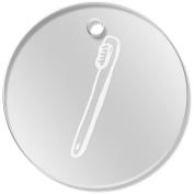11 x 34mm 'Toothbrush' Clear Pendants / Charms
