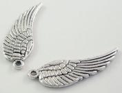 20 x Guardian Angel Fairy Single Wings Charm Pendant Silver colour