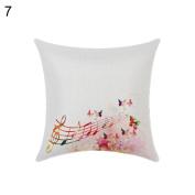 Fashion Musical Notation Throw Pillow Case Linen Cushion Cover Sofa Couch Home Decor