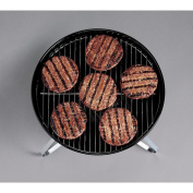 Outdoor Black 36cm Porcelain Portable Charcoal Grill with Meat Shredder Combo