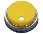 Silicone Straw Hole Tumbler and Fermentation Lid for Mason Jars