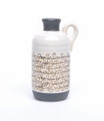 Designer Yellow And Grey Decorative Ceramic Handle Jar