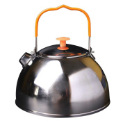 Domybest 0.6L Outdoor Camp Picnic Cookware Teapot Stainless Steel Kettle Coffee Pot