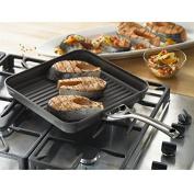 New Black Kitchen 28cm 3 Layers Non Stick Square Aluminium Grill Griddle Pan