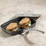 New Black Kitchen 3 Layers Non Stick Rectangular Aluminium Steam Grill Panini Pan