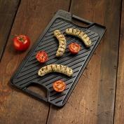 New Black Kitchen Versatile Heavy Duty Reversible Large Handles Grill Griddle Pan