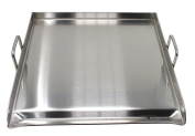CONCORD Stainless Steel Square Universal Griddle for BBQ. Dimensions 50cm x 50cm