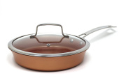 CONCORD 24cm Copper Non Stick Saute Pan Frying Pan Coppe-Ramic Series Skillet Cookware