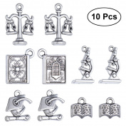 OULII 10 Pcs Mini Charms Dangling Pendants for DIY Crafting Graduation Jewellery Making Accessory