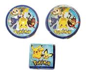 Pokemon Party Bundle 23cm Plates (16) Napkins