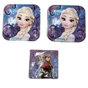 Frozen Magic 23cm Plates (16) Napkins (16) Party Bundle