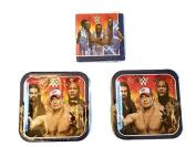 Grand Slammin' WWE Birthday Party Bundle 23cm Plates (16) Lunch Napkins