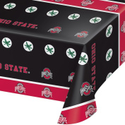 2-ct Ohio State University Buckeyes Premium Plastic Table Covers College Football Party