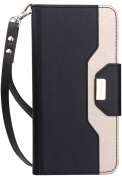 ProCase Google Pixel 2 Wallet Case, Flip Kickstand Case with Card Slots Mirror Wristlet, Folding Stand Protective Cover for Google Pixel 2 (2017 Release) -Black
