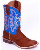 YHY0001 Twisted X Kid's Hooey Western Boots - Cognac/Neon Blue
