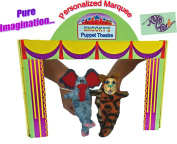 Pure Imagination Kids Puppet Theatre Custom Personalised for Girls & Boys. Puppet Master Show Stage & You Choose 2 NenaWena Puppets. All Puppeteers Welcome! Hand Puppet Theatre Starts Here!