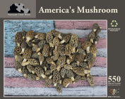 AMERICA'S MUSHROOM, 550 Piece Puzzle made in the USA
