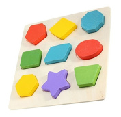 Baby Kid Educational Wooden Toys Baby Intelligence Puzzle Shape Develop Coordination, fine motor skills, Creativity, Imagination, Curiosity and Discovery Skills.