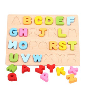 Hot Kids DIY Wooden Alphabet Educational Scrabble Letters Craft Jigsaw Puzzles Educational Toys For Children