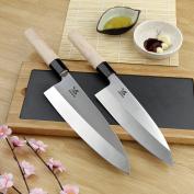 BIGSUNNY Japanese Deba Fish head knife Salmon knife Sashimi Sushi Cooking knife