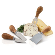 Serving Fork, Kitchen Multi-tool Cutting Cheese Wood Stainless Steel Tool Set