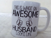 This is what an Awesome Husband looks like 330ml cermaic mug gift valentines day mothers day xmas birthday