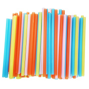Jumbo Smoothie Straws, Assorted Colours [100 Pack]