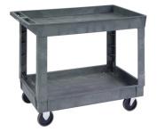 Lakeside 2521 Deep Well Plastic Utility Cart, 230kg. Capacity, 2 Shelves, 43cm - 1.3cm x 90cm - 1.3cm x 80cm - 1.9cm