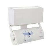 Magnetic Paper Towel Holder with Storage Shelf for Fridge Kitchen Multifunctional Magnet Hook