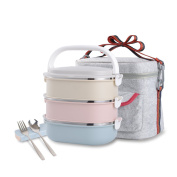 Stainless Steel Leakproof Lunch Box with Lock Container and Insulated Lunch Bag for Adult and Office