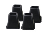 """Deluxe Heavy Duty 6"""" inch Bed Risers, Furniture Riser, Great Under Bed Storage. – Set of 4"""