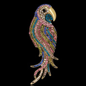 Hummingbird Crystal Brooch Pin, ANZOME Multicolor Alloy Gorgeous Rhinestone Clothing- Type B