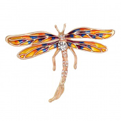 Dragonfly Crystal Brooch Pin, ANZOME Multicolor Alloy Gorgeous Rhinestone Clothing
