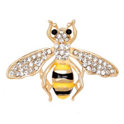 Bee Crystal Brooch Pin, ANZOME Multicolor Alloy Gorgeous Rhinestone Clothing