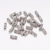 50Pcs Tibetan Silver Tube Spacer Beads 8mm