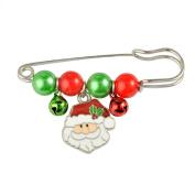 Youkara Fashion Brooch Christmas Santa Claus Brooch Unique Rhinestone Christmas Gift Lady Jewellery
