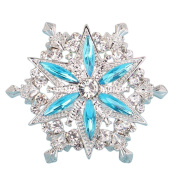 Youkara Flower Crystal Snow Stars Brooch Pin Brooches For Women Girls Jewellery