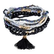 Yosemite Women's Boho Bracelet Beaded Rhinestone Tassels Decor Multilayer Bracelet Gift