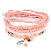 Yosemite Women's Vintage Bracelet Boho Pendant Beaded Multilayer Casual Bracelet Jewellery