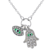 Evil Eye Necklace Hand of Fatima Charm Chain Necklace Jewellery for Women