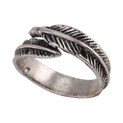 PetHot Open Rings Feather Ancient Style Plume Adjustable Beautiful Women Finger Ring