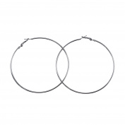 PetHot Large Dangle Thin Hoops Earrings Metal Ring Hot Fashion Dangler Earbob Jewellery For Women Girl Silver 9CM