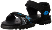 Lotto Boy's Remy IV Jr Black and Royal Blue Sandals and Floaters - 5 UK