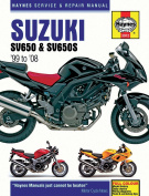 Haynes Motorcycle Repair Manual for Suzuki SV 650 SV 650 S 1999-2005