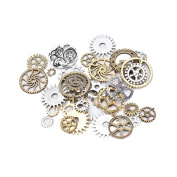 Eshylala 50G(50ml) Antiqued Gears Wheels Skeleton Steampunk Clock Watch Gears Cog Wheel Pendant Charms,Assorted Colours for DIY Crafts,Jewellery Making,Steampunk Charms