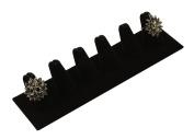 Black Velvet 6 Ring Finger Display Stand