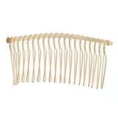Gold Tone Metal Hair Combs Pack of 6