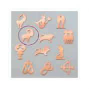 Aries Astrological Sign, 30 x 25 mm, copper pendant Outline Cold Efcolor Enamelling